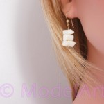 White / ivory corals earrings