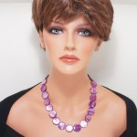 Vine mother of pearls round necklace