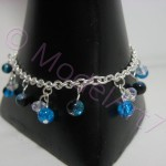 Blue silver  bracelet with Swarovski chrystals