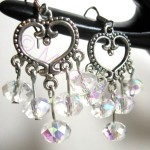 Tibetan silver Swarovski pearls earrings