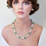 Green 12mm pearls set