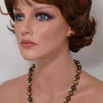 Earth color mix shell pearls mix necklace  - Suzy