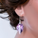 Swarovski leafs – gorgeous silver earrings