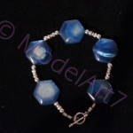 Blue MOB Bracelet - Hexagon
