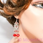 Earrings red from collection Harem