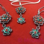 Set of earrings and pendant from collection Harem